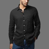 Portuguese Flannel Leinenshirt - Black