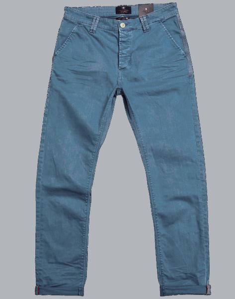 BLUE DE GENES Paulo Pavia Enzyme Trousers - Slate Blue