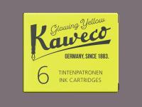 Kaweco Tintenpatronen 6 Stück - Glowing Yellow