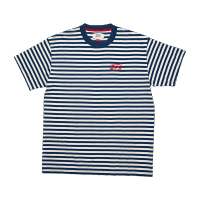 Deus Indigo Stripe Tee - Dark Blue