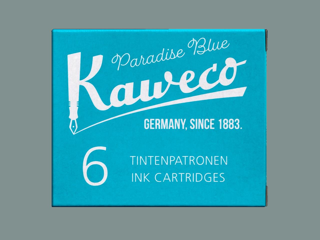 Kaweco Tintenpatronen 6 Stück - Paradies Blau