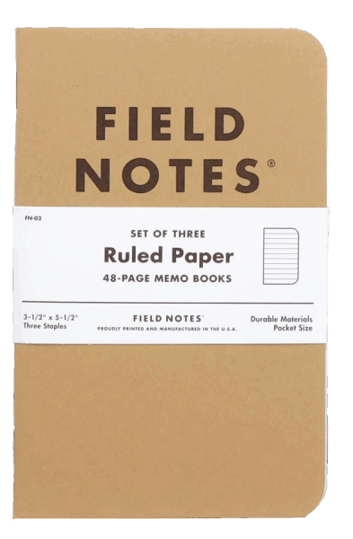 Field Notes Original Kraft 3er Set - Liniert