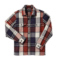 Filson Deer Island Jac-Shirt - Rust/Navy/Cream Check