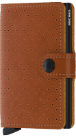 Secrid Miniwallet - Perforated - cognac