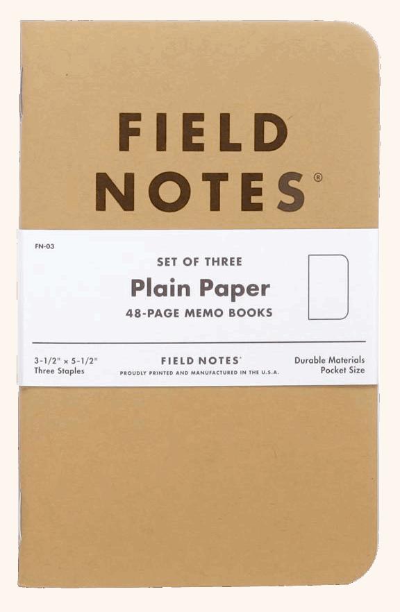 Field Notes Original Kraft 3er Set - Blanco