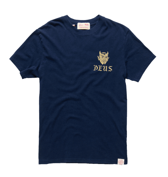 Deus Dancing Devil Tee - navy
