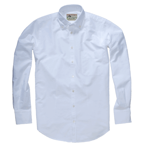 GORDON & FERGUSON CLASSIC OXFORD SHIRT white