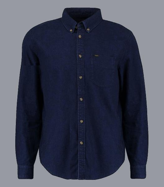 LEE Button Down Shirt, Mid Indigo