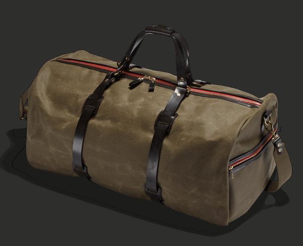 Croots Vintage Duffle Bag large. - olive