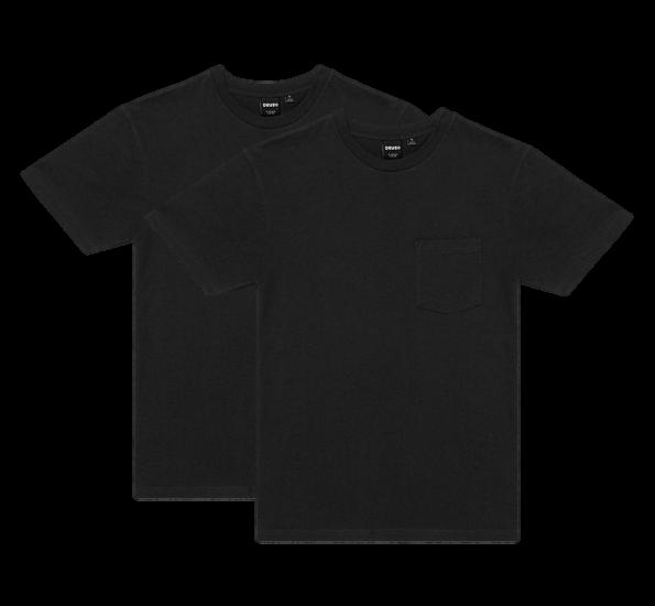 Deus 2-Pack Pocket Tee - Black