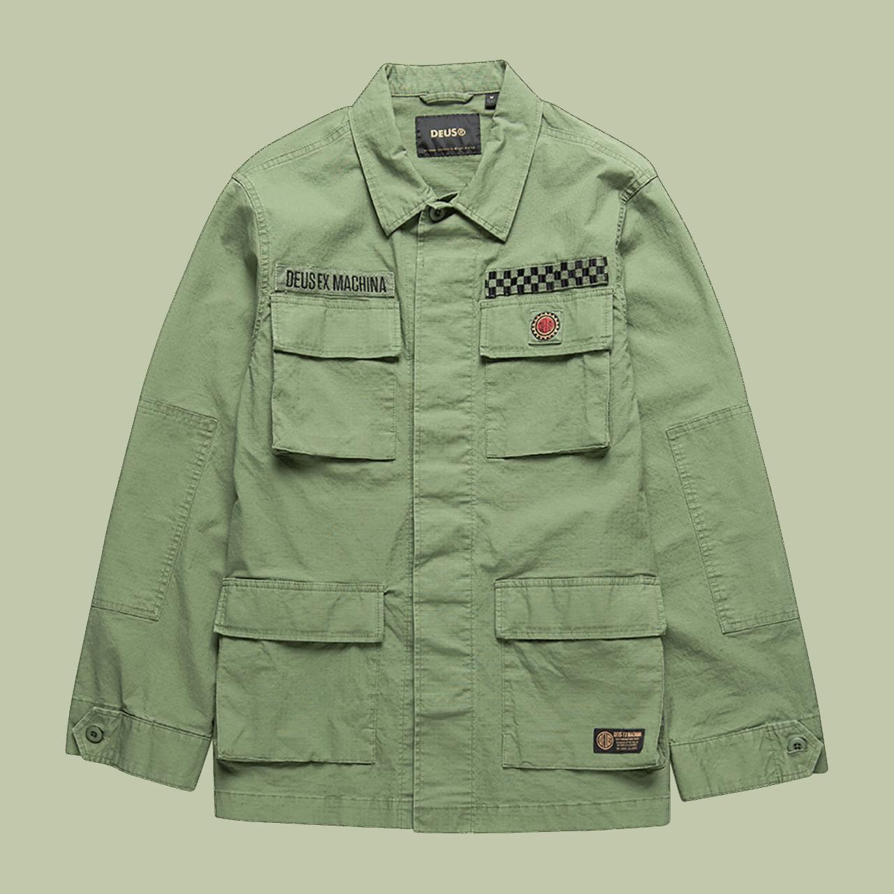 Deus Ripstop Jungle Shirt - Clover Green