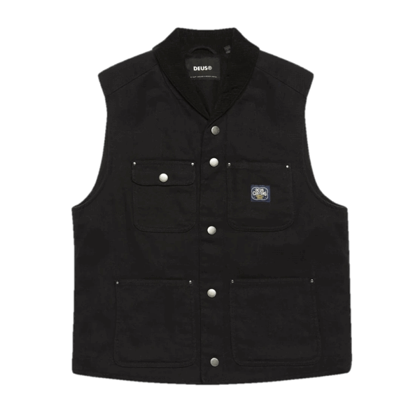 Deus Earl Canvas Vest Black
