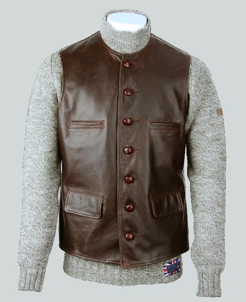 Aero Leather Shackleton Vest