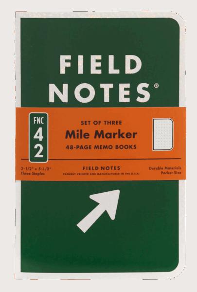 Field Notes Mile Marker Set