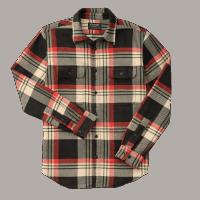 Filson Vintage Flannel Work Shirt - black/red/cream