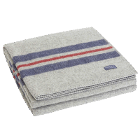 Faribault Cabin Blanket Heather Gray 50x72 inch / 125x180cm