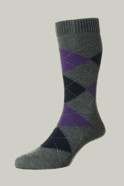 Pantherella Racton Merino Wool - grau