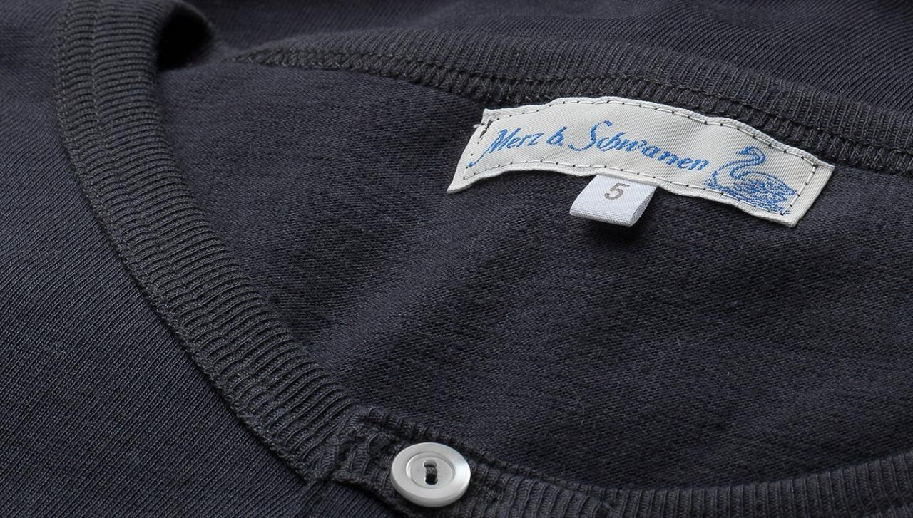 Merz beim Schwanen Knopfleisten T-Shirt 207 - schiefer