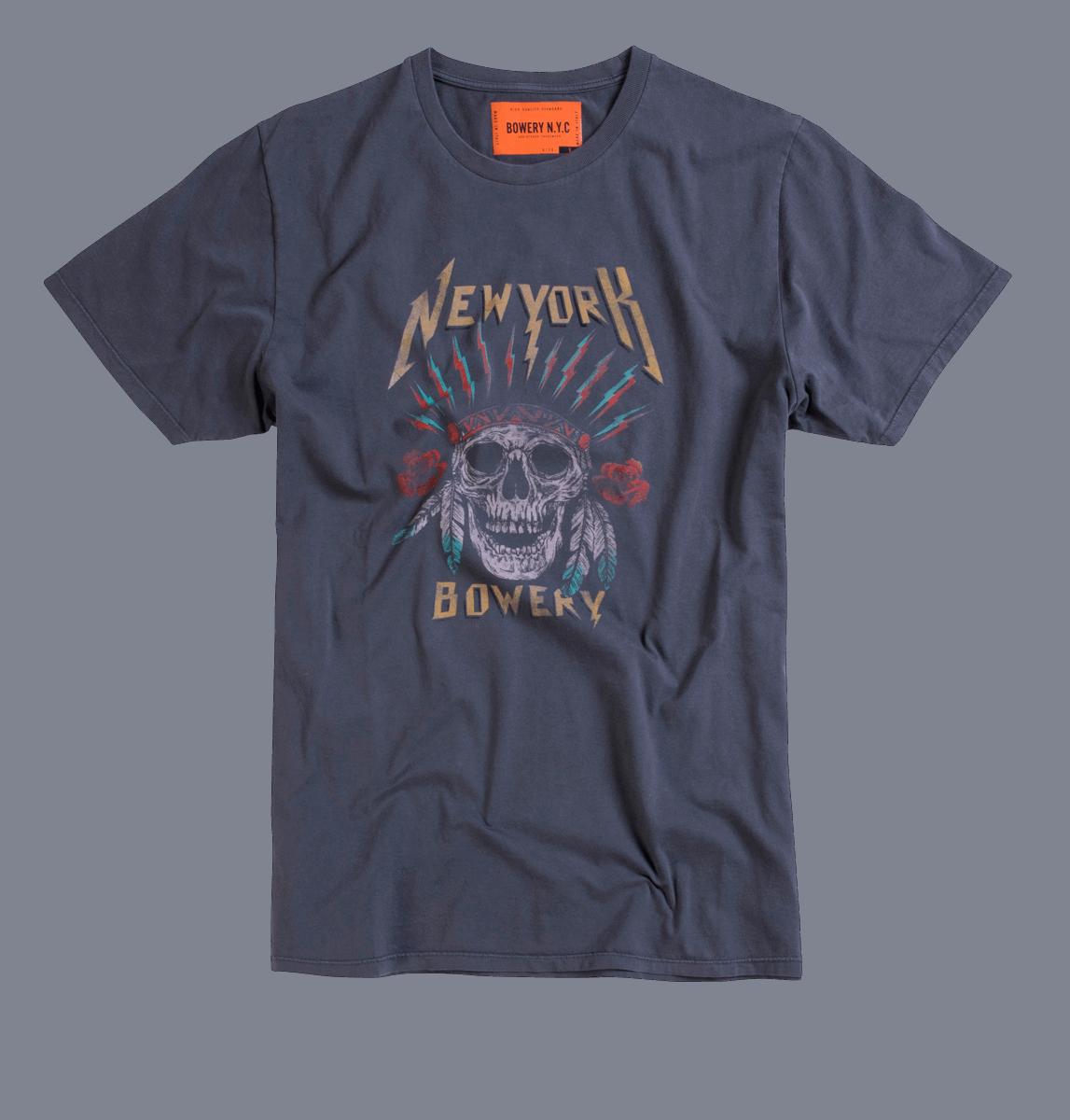 Bowery NYC - New York Skull - Gun Metall