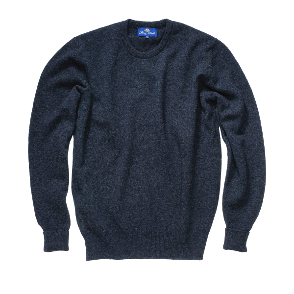 Peter Scott BRAEMAR Crew Neck Pullover Black
