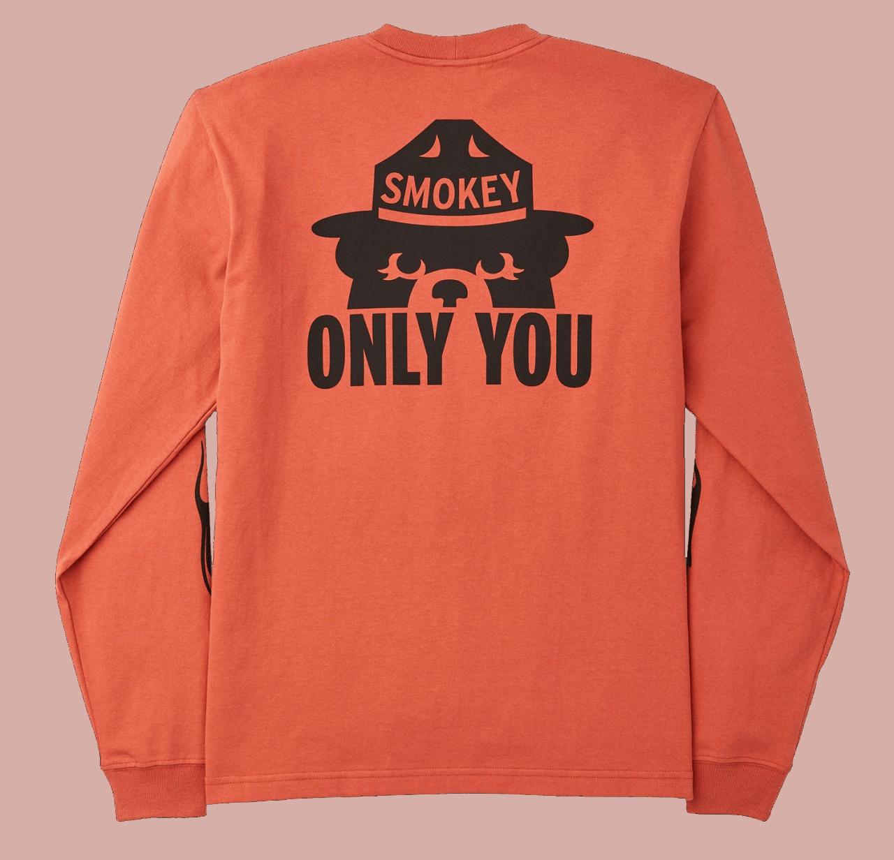 Filson Smokey Bear Long Sleeve Shirt - orange