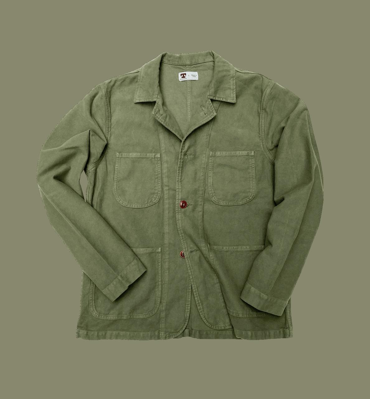 Tellason Baker Jacket Moleskin - olive