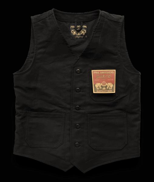 Pike Brothers 1937 Roamer Elephant Skin Weste Black