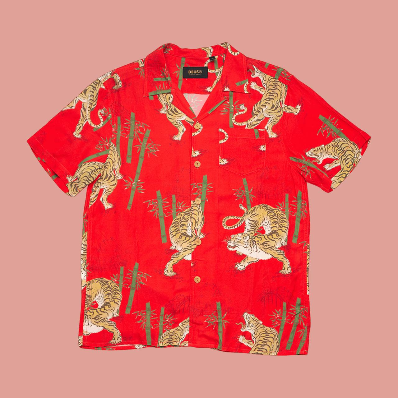 Deus Solstice Ss Shirt - Poppy Red