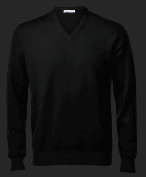Gran Sasso V-neck, black