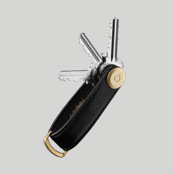 Orbitkey 2.0 Saffiano Leather Liquorice Black