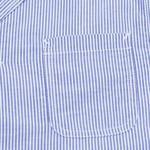 Edwin Prime Jacket French Striped Seersuker