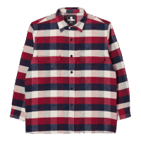 Edwin Big Shirt Flannel Bordeaux/ Navy