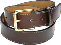 "CORONADO LEATHER 1 1/2"" HORSEHIDE BELT - BROWN"