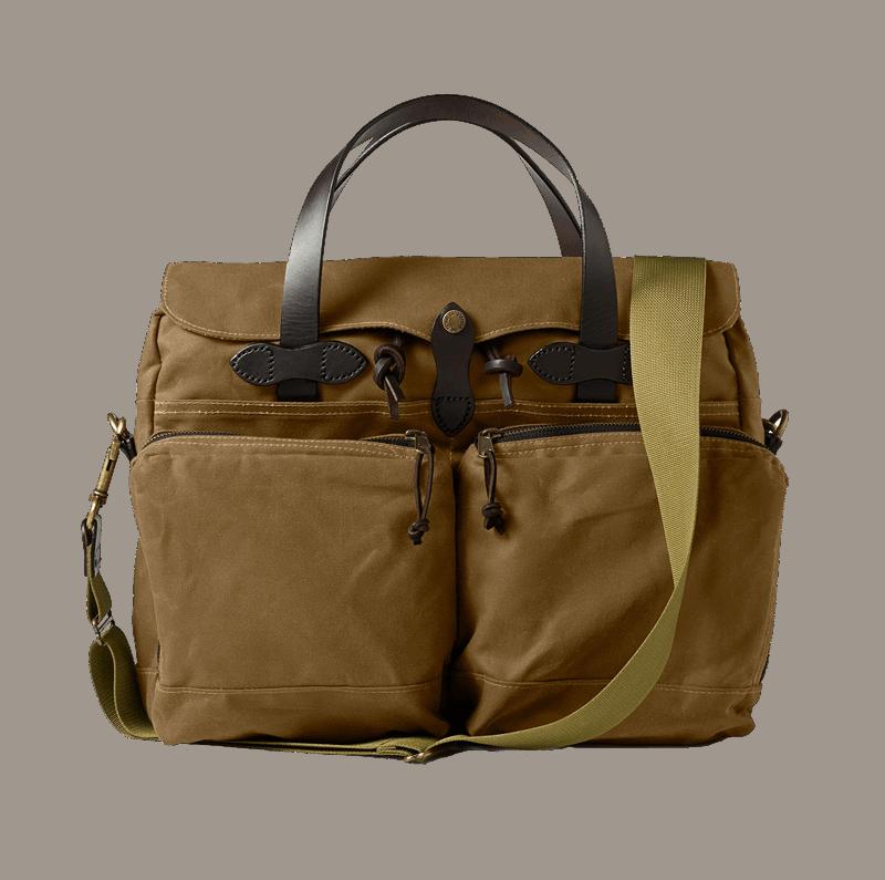 Filson 24 Hour Tin Cloth Briefcase -Tan