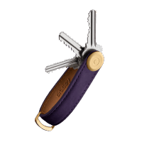 Orbitkey 2.0 Crazy Horse Leather Aubergine / Purple