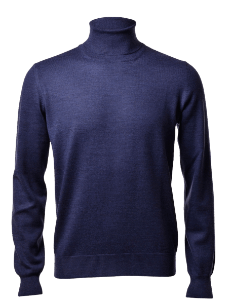Gran Sasso turtle-neck, denim