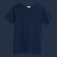 Merz b. Schwanen Rundhals T-Shirt 215 - tintenblau