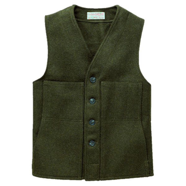 Filson Mackinaw Wool Vest - Forrest Green