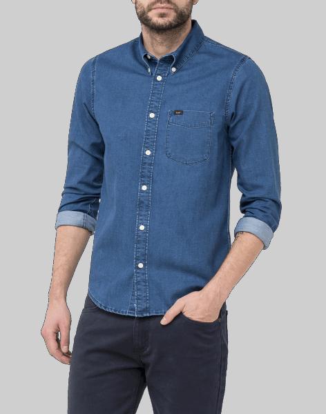LEE 101 Button Shirt, indigo