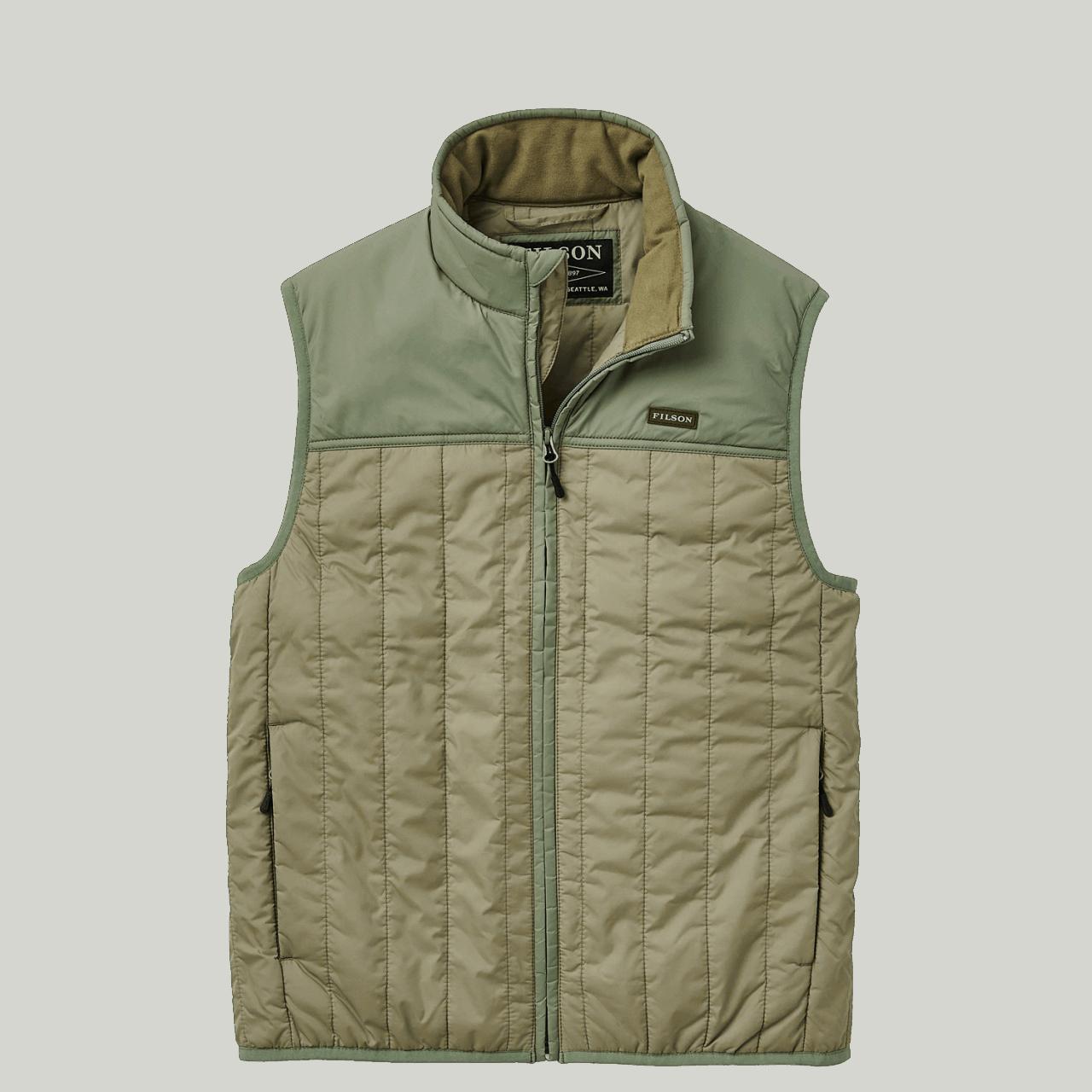 Filson Ultra Light Vest - olive branch / green
