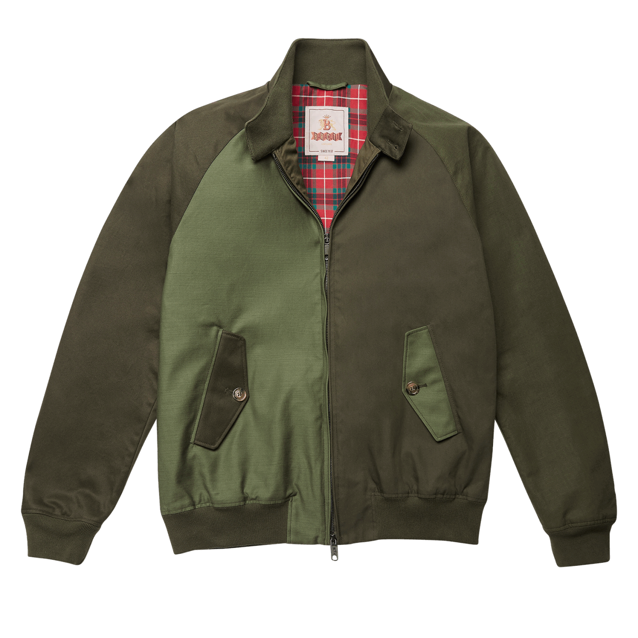 Baracuta G9 Jacket - Patchwork Olive