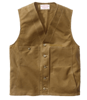 Filson Oil Tin Cloth Vest - Dark Tan