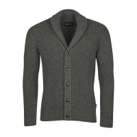 Barbour Brodric Knitted Button Shawl - charcoal