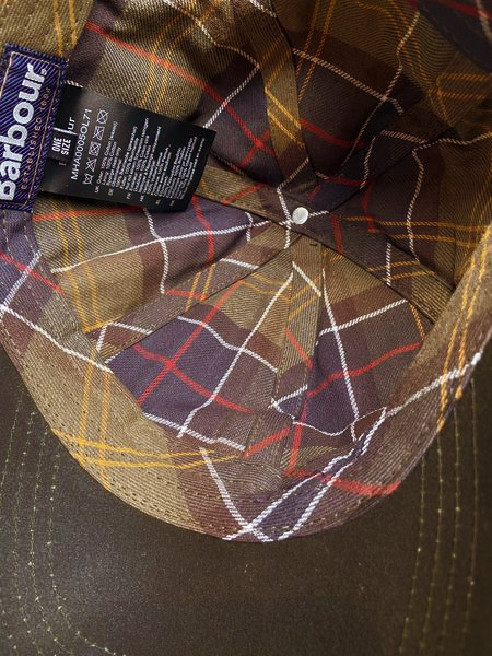 Barbour Waxed Sports Cap - olive