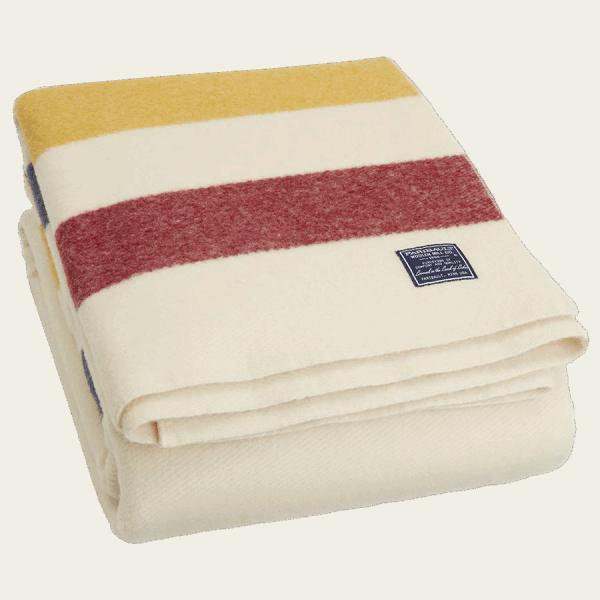 Faribault Revival Stripe Blanket Bone 50x72 inch / 125x180cm