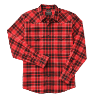 Filson Western Flannel Work Shirt - Red/Black/White Plaid