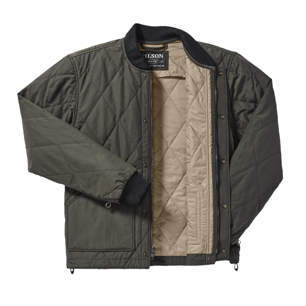 Filson Quilted Pack Jacke - otter green
