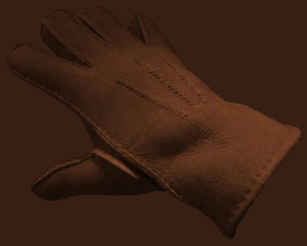 Merino Lammfell Handschuh braun