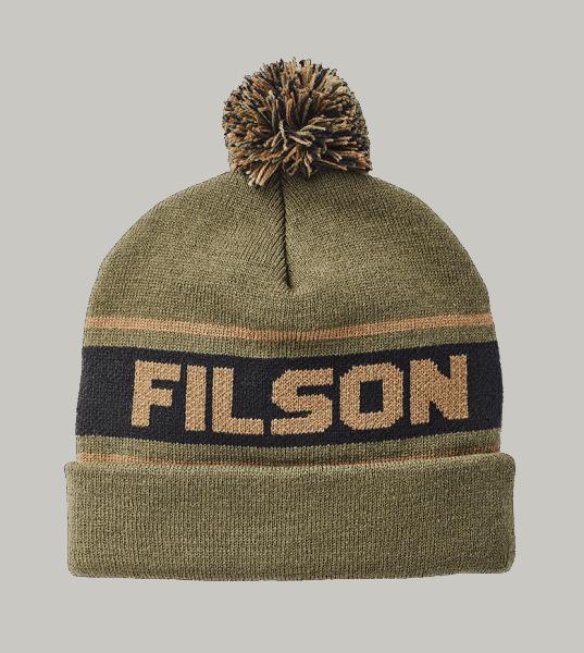Filson Logo Beanie - army green