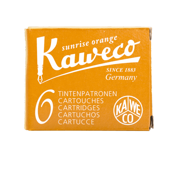 Kaweco Tintenpatronen 6 Stück - sunshine orange